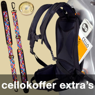 Cellokoffer extra's