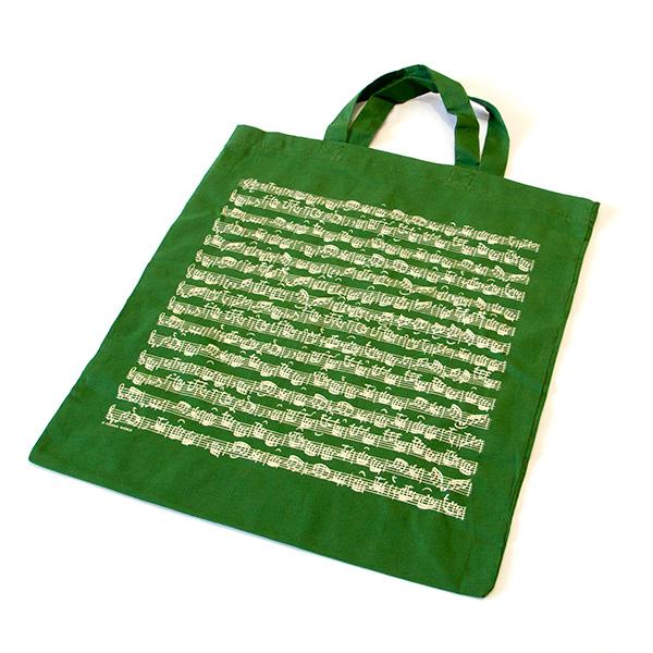 Groene muziek tas Bach