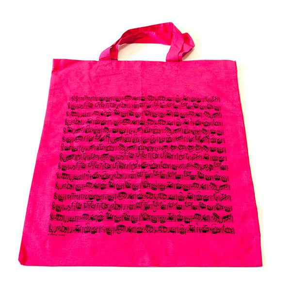 Roze muziek tas Bach