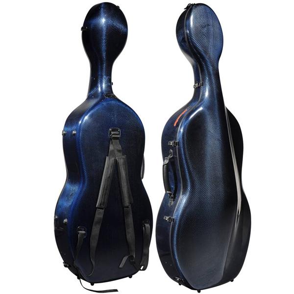 Musilia cello koffer S3 transparant blauw carbon