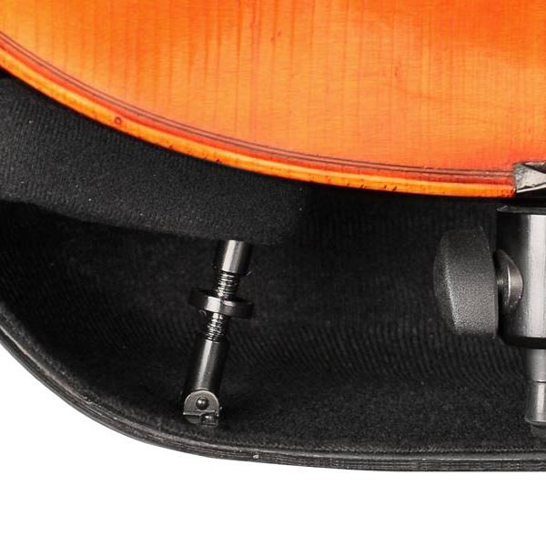 Musilia cello koffer S3 transparant zwart carbon