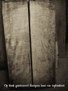 Op klank geselecteerd Europees hout