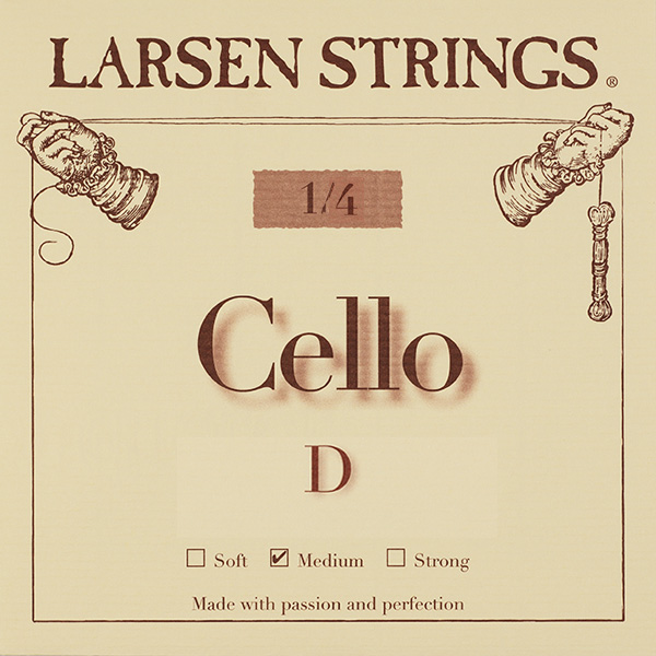 Cellosnaar Larsen 1/4 D-II Medium