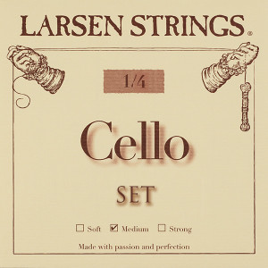 Cellosnaren Larsen fractional 1/4 Medium set