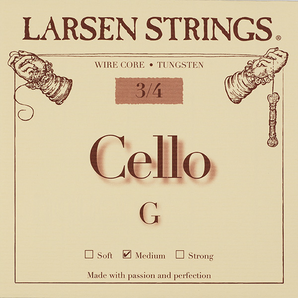 Cellosnaar Larsen 3/4 G-III Medium