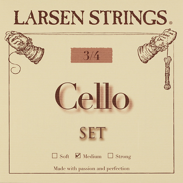 Cellosnaar Larsen 3/4 set