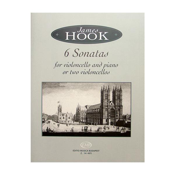 James Hook 6 Sonatas for violoncello and piano or two violoncellos