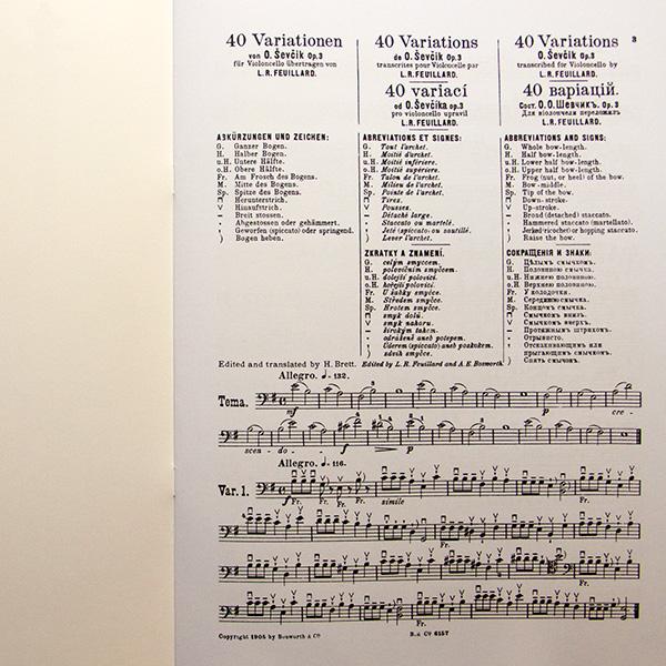 Sevcik Opus 3 40 variations for Cello (arr. Feuillard)