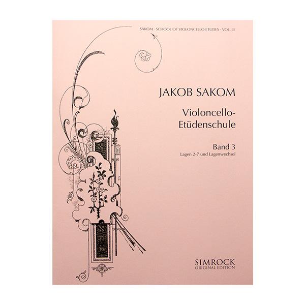 Jakob Sakom Violoncello-Etüdenschule Band 3