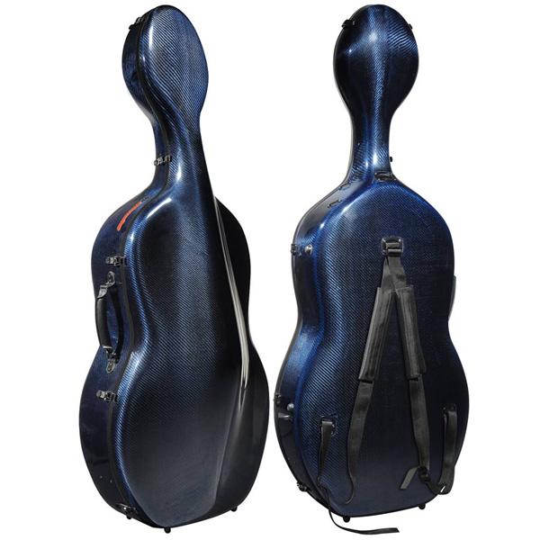Cello koffer Musilia M6 Blauw transparant carbon