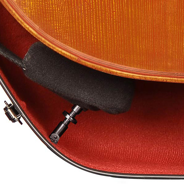 Cello koffer Musilia S1 Detail rood interieur