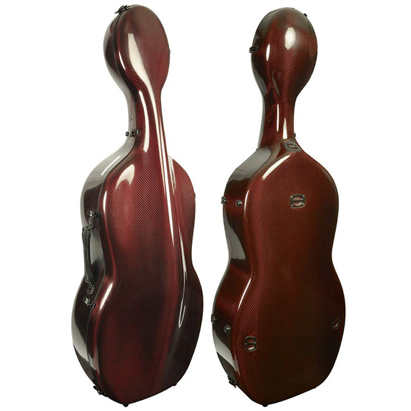 Cello koffer Musilia S3 Rood transparant carbon