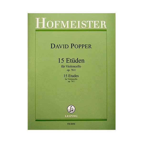 David Popper 15 Etuden fur violoncello op.76 I
