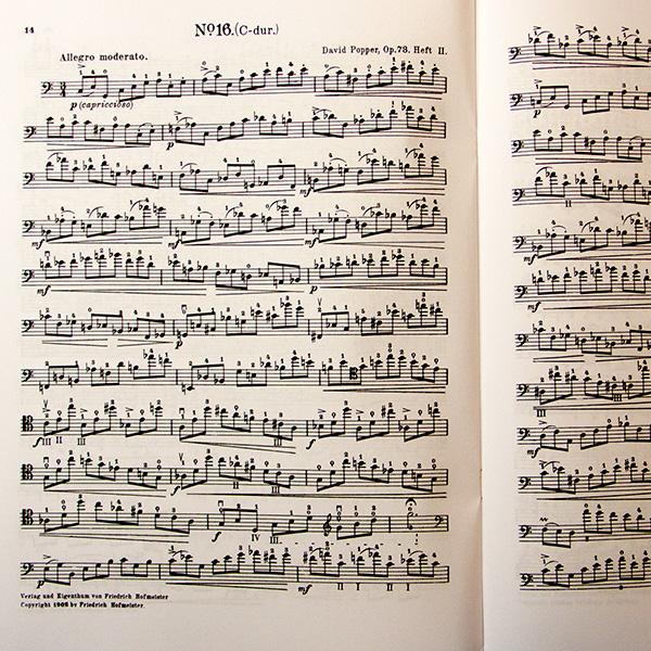David Popper op.73 Hohe Schule des Violoncellspiels Heft 2