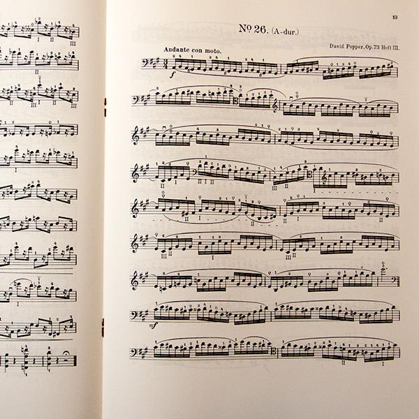 David Popper op.73 Hohe Schule des Violoncellspiels Heft 3
