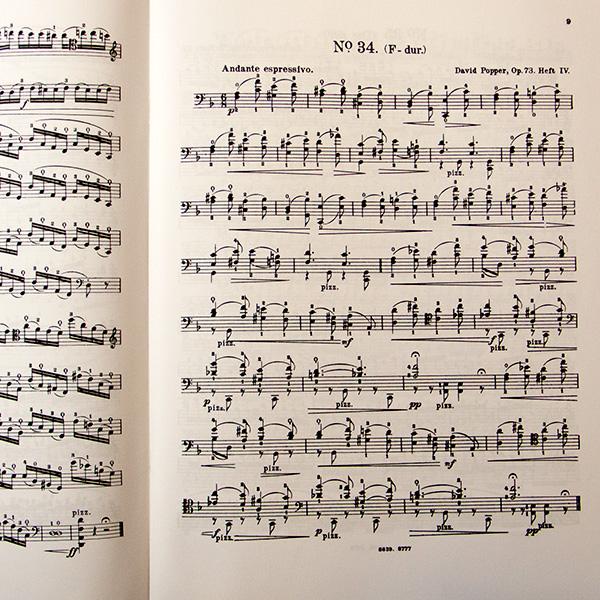 David Popper op.73 Hohe Schule des Violoncellspiels Heft 4