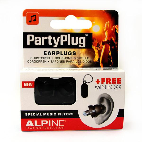 Alpine PartyPlug Zwart gehoorbescherming met opbergdoosje