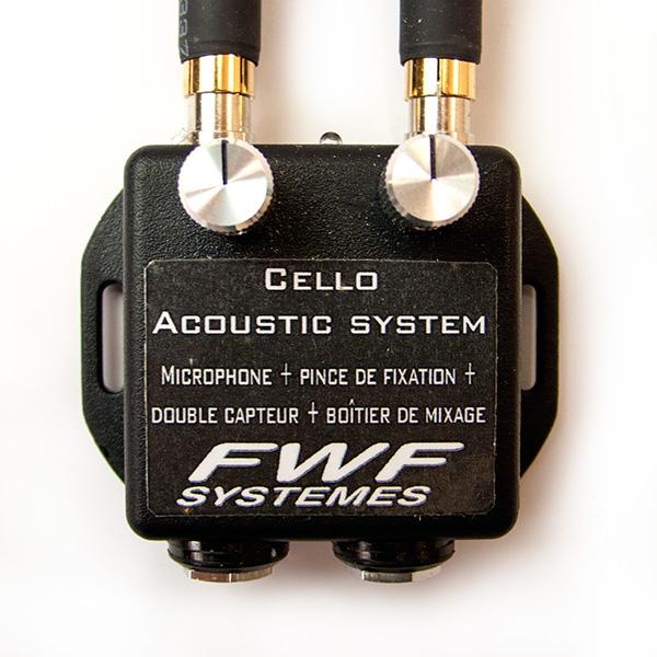 FWF MC2 Cello microfoon en piezo pickup met voorversterker