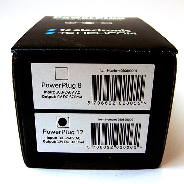 TC Helicon Powerplug 12v gelijkstroomvoeding 1000mA