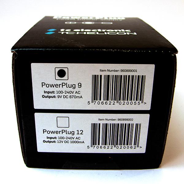 TC Electronic Powerplug 9V gelijkstroomvoeding voor effectpedalen en loopers 670 mA