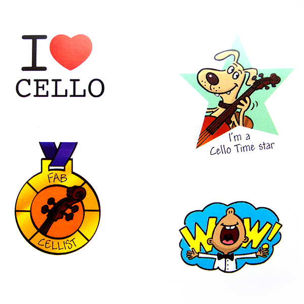 Cello String Time Stickers - stickervel