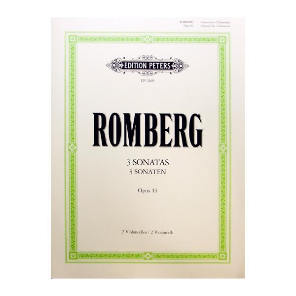 Romberg 3 Sonatas Opus 43 für Violoncello