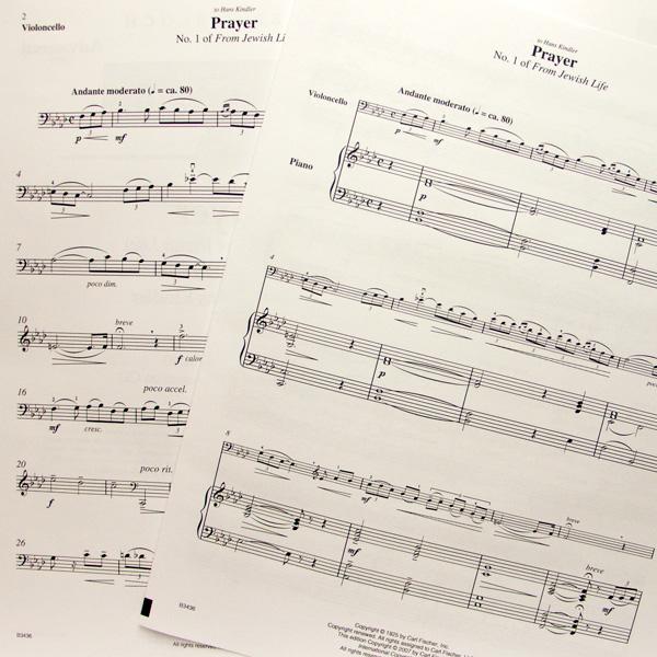 Ernest Bloch Prayer (No. 1 of From Jewish Life) cello en piano met cd