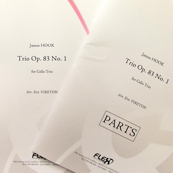 James Hook Trio Op.83 No.1 cello trio