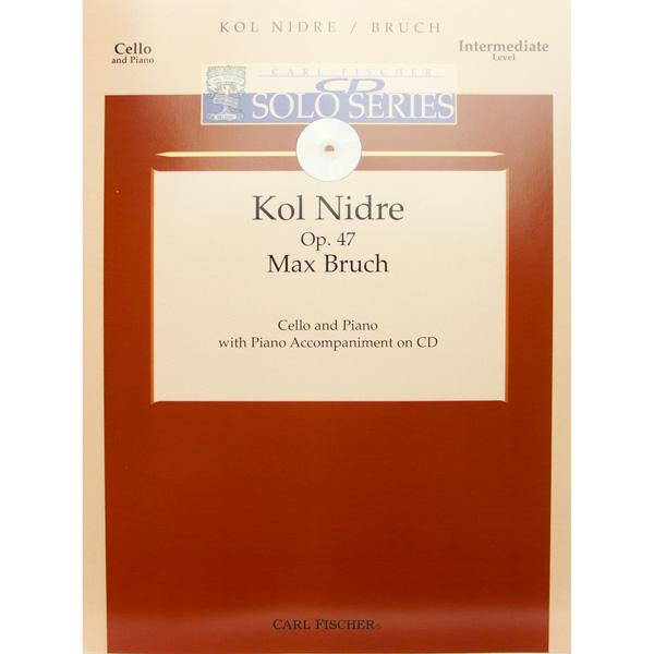 Max Bruch Kol Nidrei Op.47 voor cello en piano (met cd)