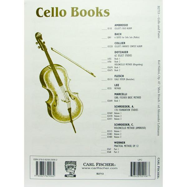 Max Bruch Kol Nidrei Op.47 voor cello en piano