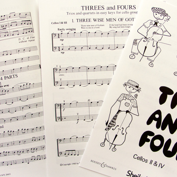 Sheila Nelson Threes and Fours for cellos