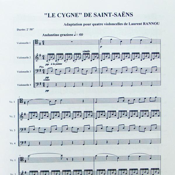 Camille Saint-Saens Le Cygne voor cello