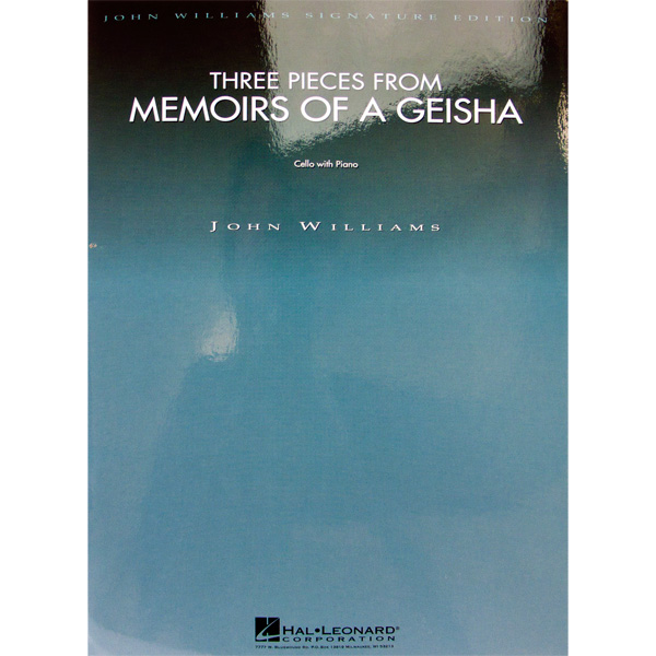 John Williams Three pieces from Memoirs of a geisha for cello and piano