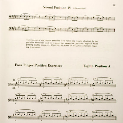 An Organized Method of String Playing Cello Exercises for the left hand - Janos Starker