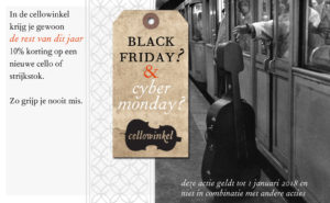 Black Friday en Cyber Monday op Cellowinkel.nl