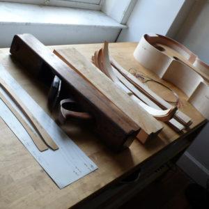 Werktafel van een vioolbouwer
