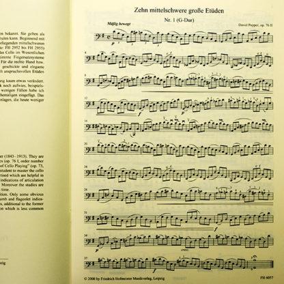 David Popper Zehn mittelschwere grosse Etüden für Violoncello op. 76 II