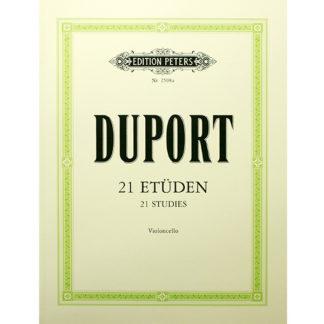 Duport 21 etüden violoncello