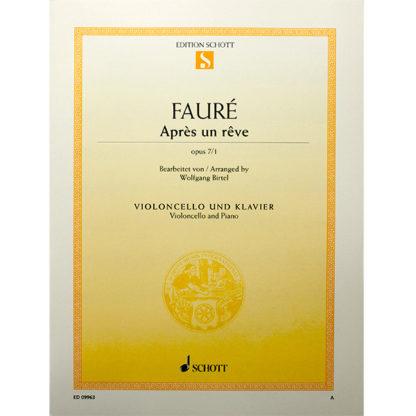 Fauré Apres un Rêve opus 7/1 cello en piano