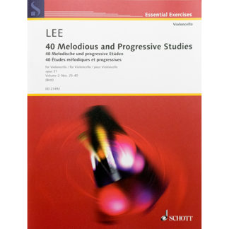 Lee 40 Melodious and progressive studies for Cello