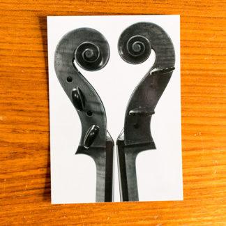 Ansichtkaart Cello liefde