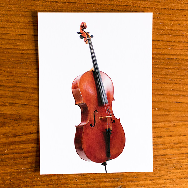 Ansichtkaart Cello Thomas Meuwissen