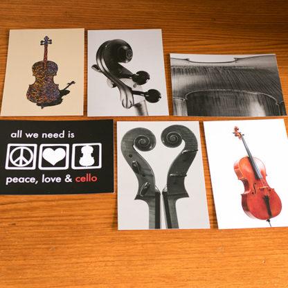 Ansichtkaarten Cello Set 6 kaarten
