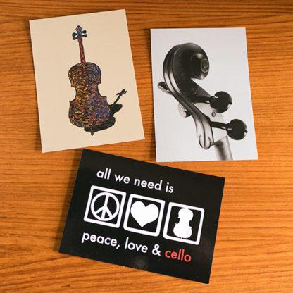 Ansichtkaarten Cello Set 2
