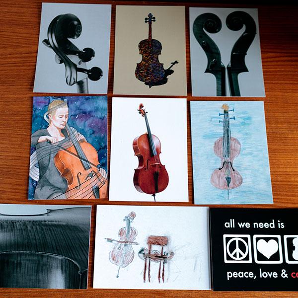 Cello Ansichtkaarten set van 9 kaarten