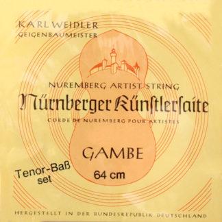 Nürnberger Künstlersaite Tenor Gamba snaren set