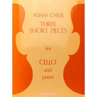 Adam Cares Three Short Pieces for cello and piano
