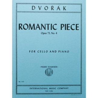 Dvorák Romantic Piece Opus 75 no. 4 for cello and piano
