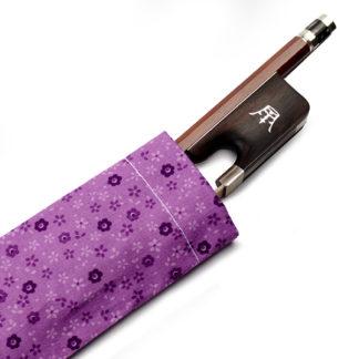 Strijkstok hoesje paars violet met bloemetjes
