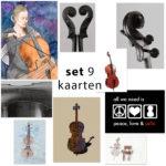 kassakoopje ansichtkaarten cello